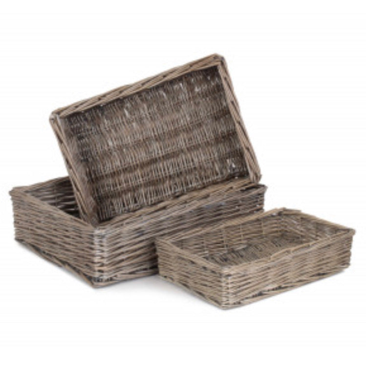 Woven Willow Tray Basket