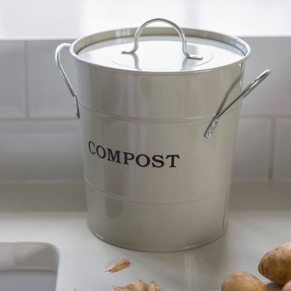 garden trading chalk compost bin caddy