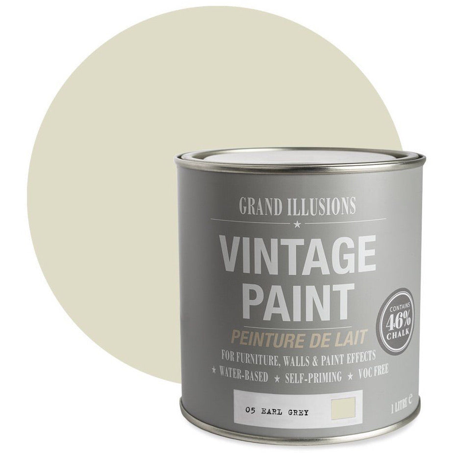 vintage chalk paint no5 earl grey