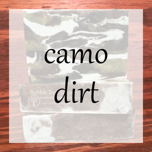 Camo Dirt Bath & Body Collection | Bubble Tree Soapery