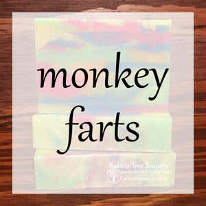 Monkey Farts Bath & Body Collection | Bubble Tree Soapery