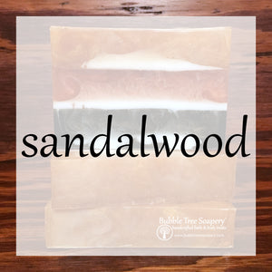 Sandalwood Bath & Body Collection | Bubble Tree Soapery