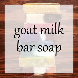 Goat Milk Bar Soap Bath & Body Collection | Bubble Tree Soapery