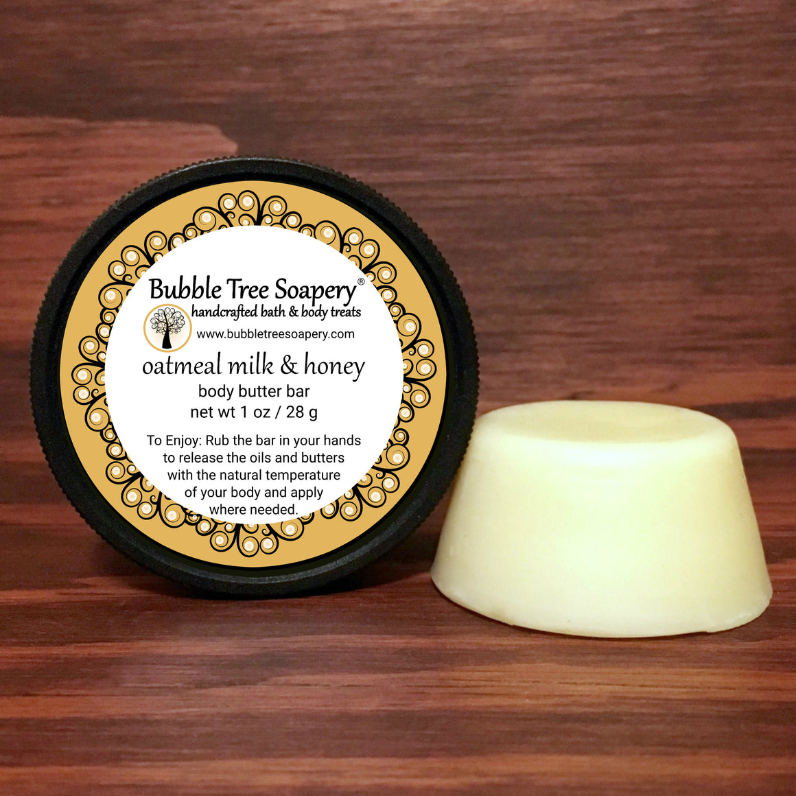 Oatmeal Milk & Honey Body Butter Bar | Bubble Tree Soapery