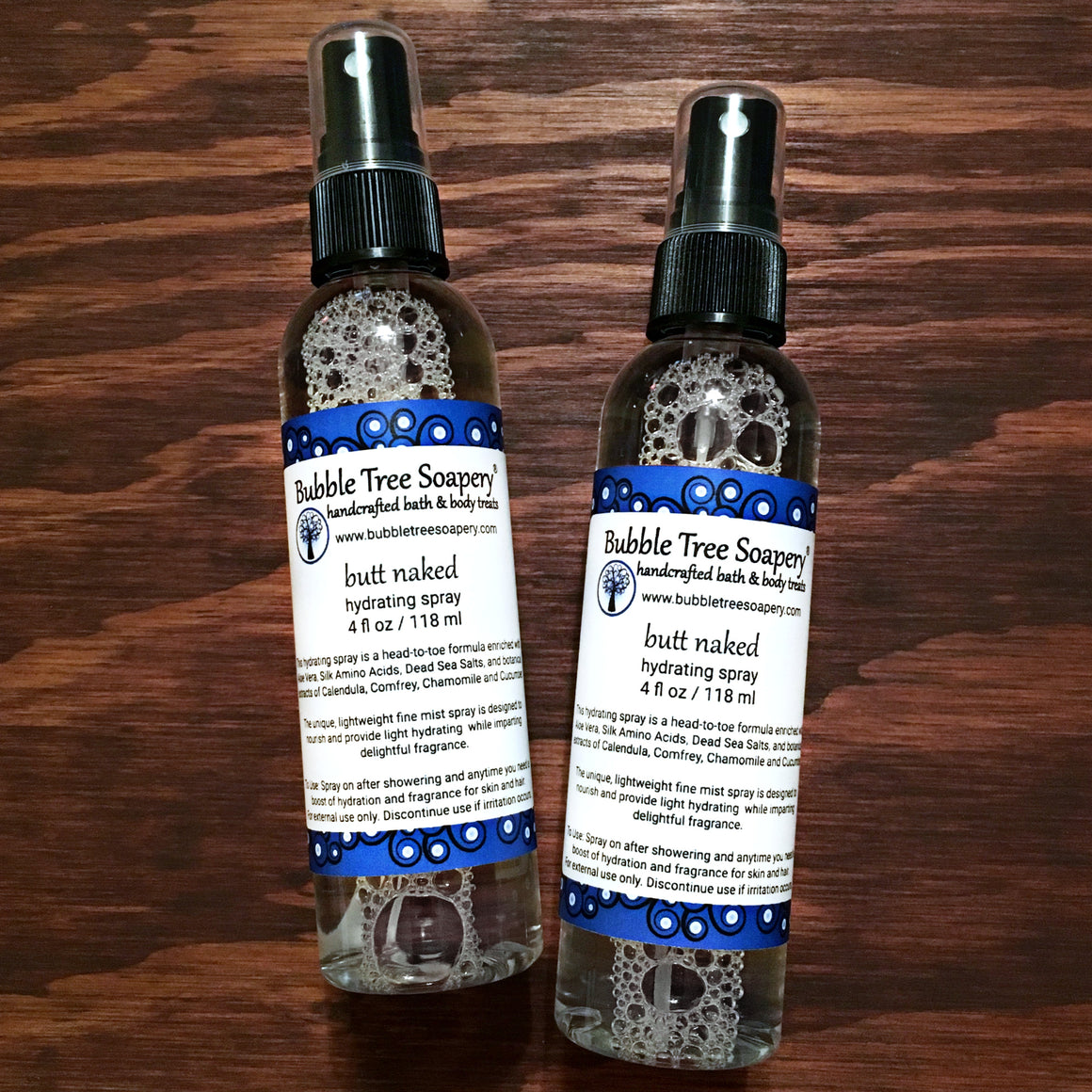 Butt Naked Hydrating Body Spray | Bubble Tree Soapery