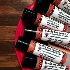 Salted Caramel Lip Balm - Bubble Tree Soapery