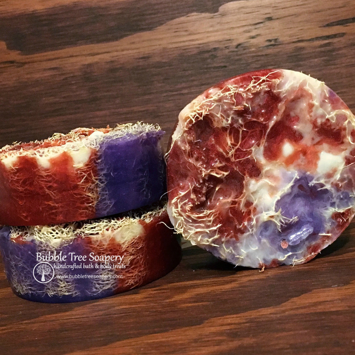 Black Raspberry Vanilla Loofah Soap | Bubble Tree Soapery