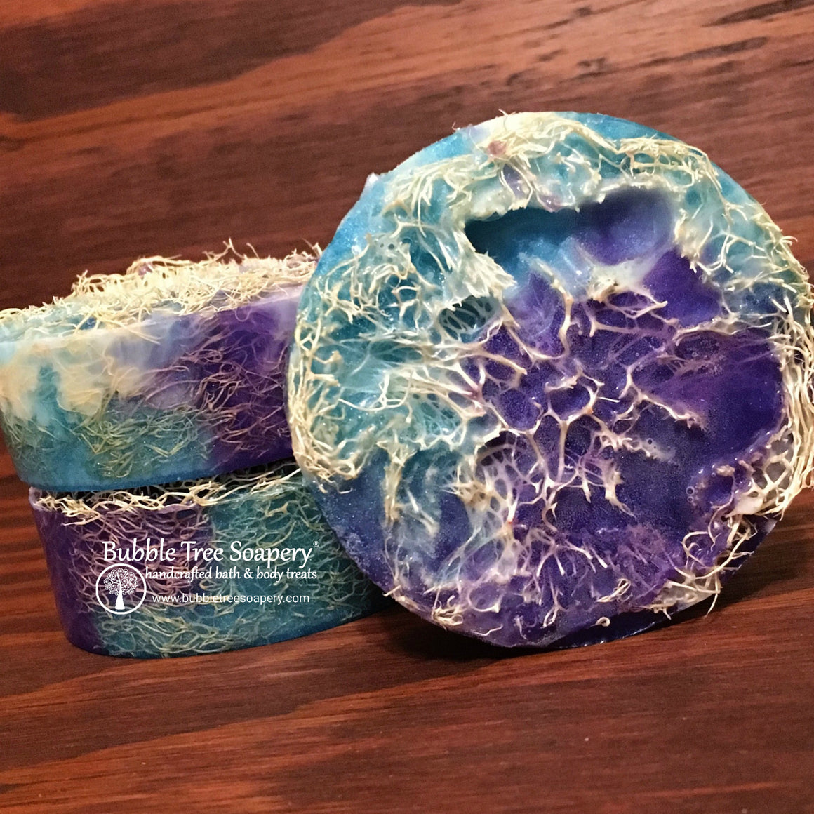 Huckleberry Loofah Soap | Bubble Tree Soapery