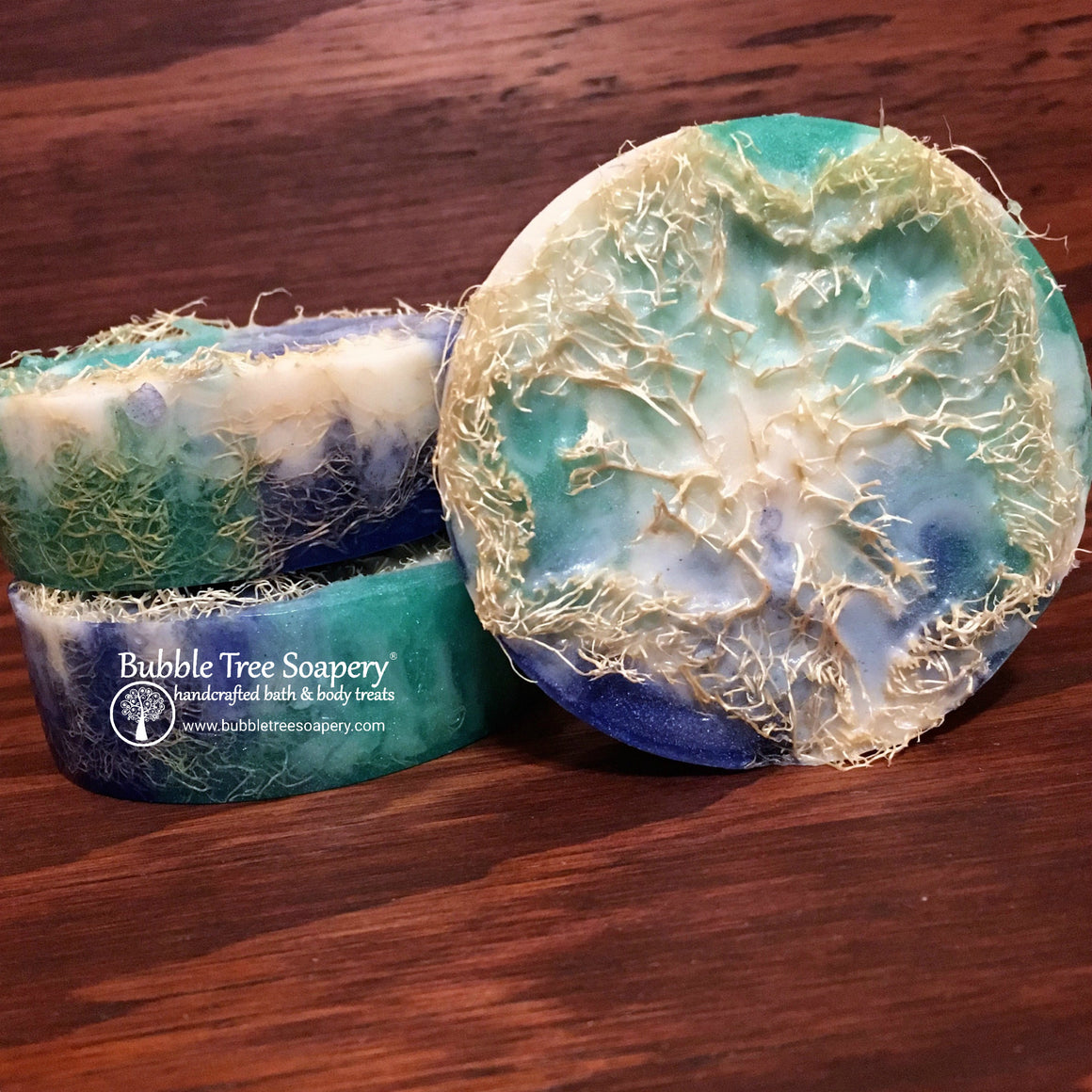 Seashore Loofah Soap | Bubble Tree Soapery