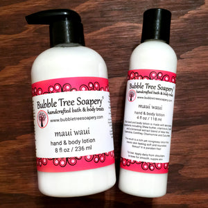 Maui Waui Hand & Body Lotion | Bubble Tree Soapery
