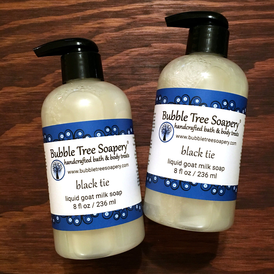 Black Tie Liquid Goat Milk Soap | Bubble Tree Soapery