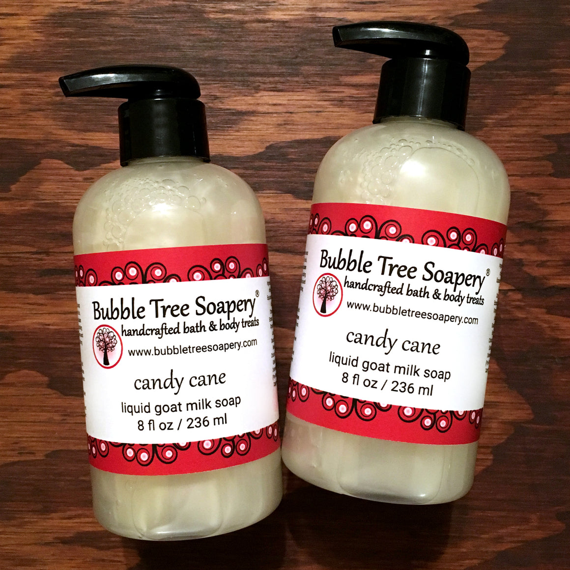 Candy Cane Liquid Goat Milk Soap - Bubble Tree Soapery