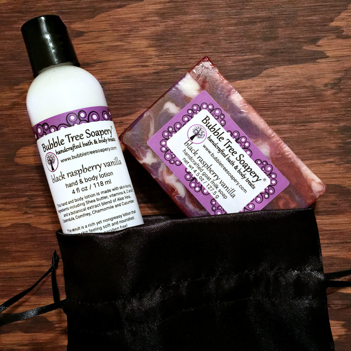 Black Raspberry Vanilla Bath Gift Set | Bubble Tree Soapery