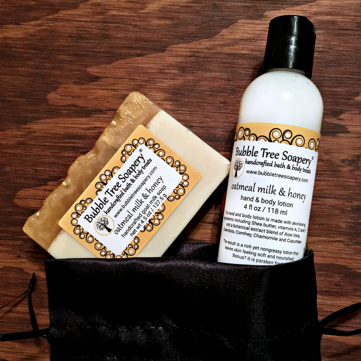 Oatmeal Milk & Honey Bath Gift Set | Bubble Tree Soapery