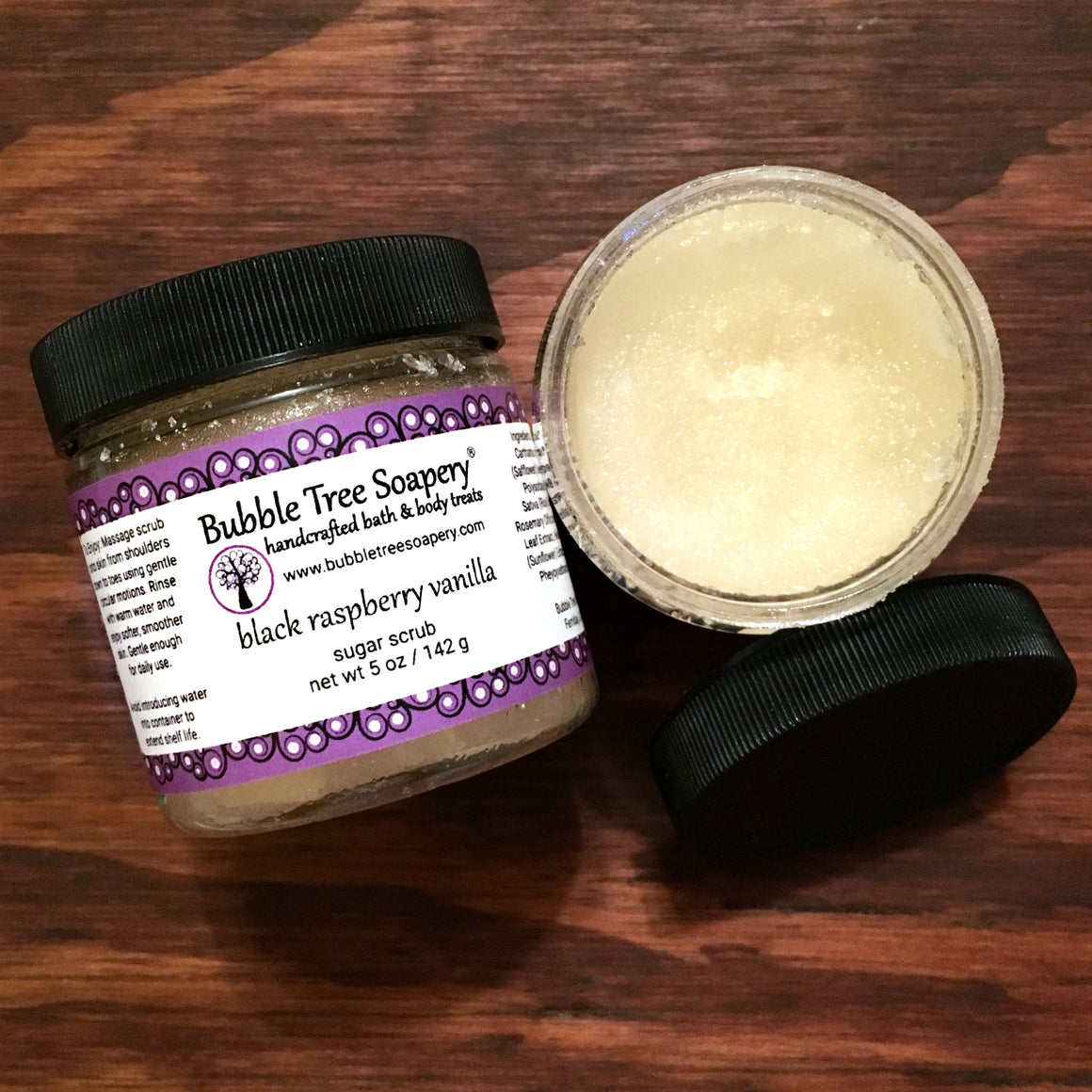 Black Raspberry Vanilla Sugar Scrub | Bubble Tree Soapery