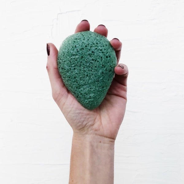 Konjac Facial Sponge- Green Clay