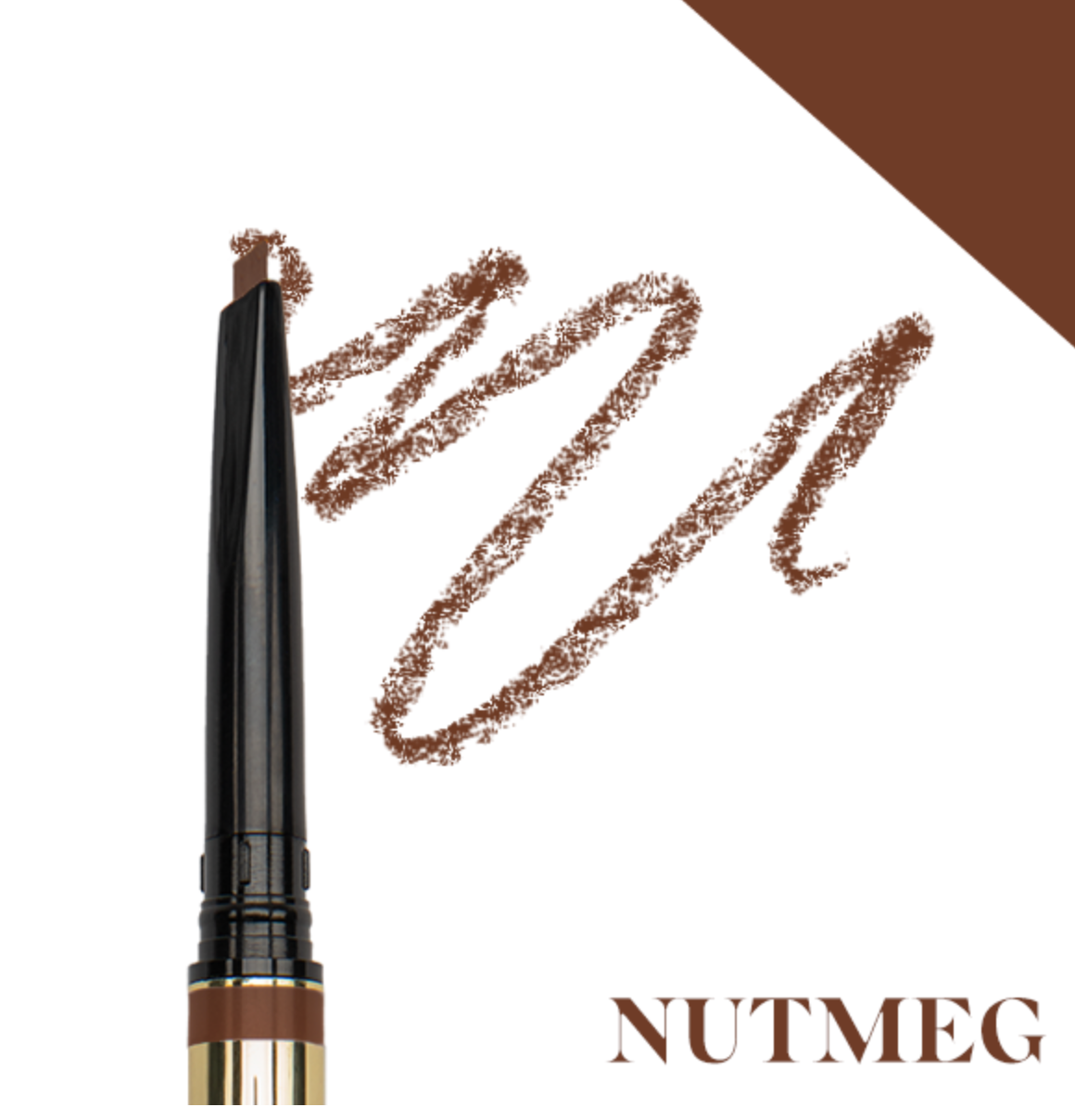 browluxe® precision brow pencil- nutmeg w-02