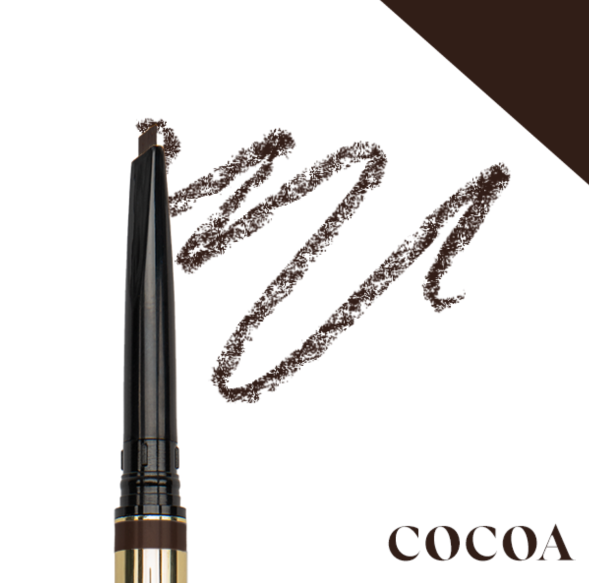 browluxe® precision brow pencil- cocoa w-03