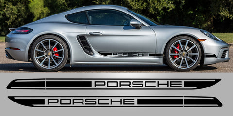 Porsche Cayman Boxster 718 Side Decal Stripes