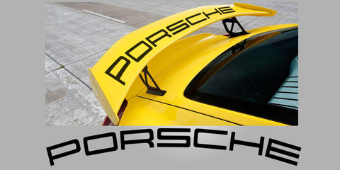 Porsche 981 Cayman GT4 Curved rear wing decal
