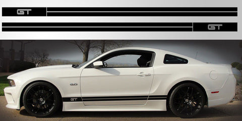Mustang GT Double Stripe vinyl decal graphic