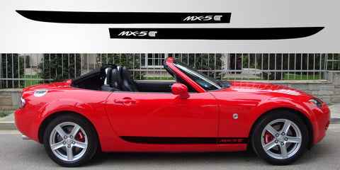 NC Mazda MX 5 GT Jota style vinyl decal side graphic