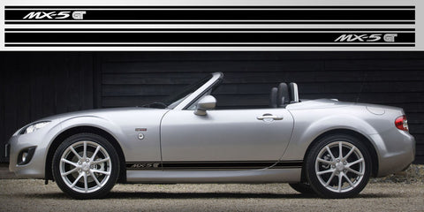 Mazda Mx5 Miata Eunos Side Stripes Vinyl Decal Graphics