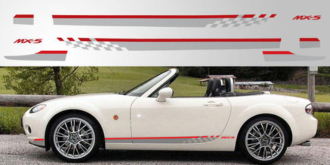 mazda mx5 miata eunos side stripes vinyl decal graphics. Black Bedroom Furniture Sets. Home Design Ideas