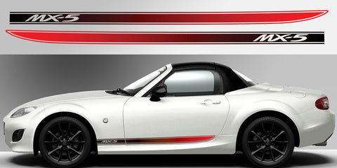 Miata MX-5 NC fading side stripe vinyl decal