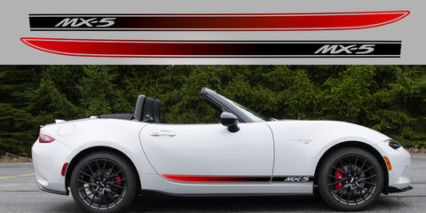 Miata Eunos ND Gen 4 Two Tone fade side stripe graphic