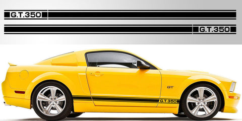 Ford Mustang GT 350 3 stripe vinyl decal graphic