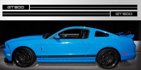 Mustang Double Stripe GT 500 vinyl rocker decal