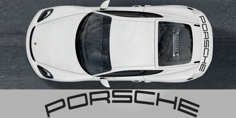 Porsche Cayman GT4 718 Wing Curved Decal