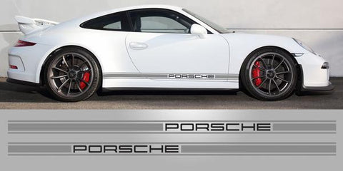 Porsche Triple Stripe two tone 3 Inch vinyl Stripe