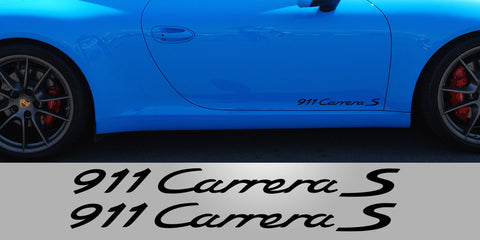 911 Carrera S lower Door Vinyl Decals