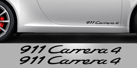 911 Carrera 4 lower door decal