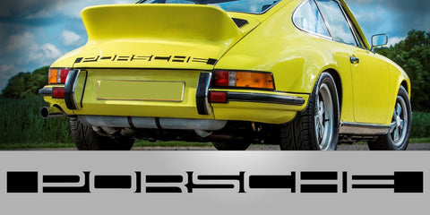 911 Carrera RS 2.7 Rear Decal Negative