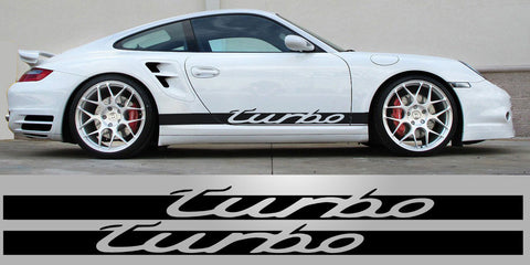 Porsche 911 Turbo Side script Vinyl Decal