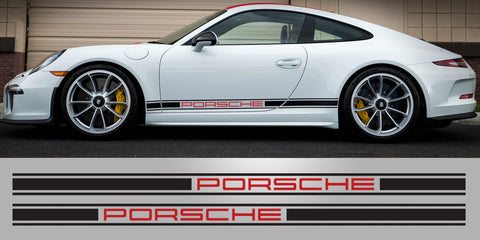 Porsche 911R two color side decal stripe 991 992 997