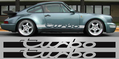 Porsche 930 Turbo side script decals