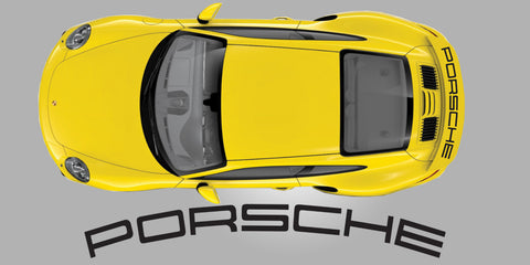 Porsche 991 Turbo Rear Spoiler Wing Decal