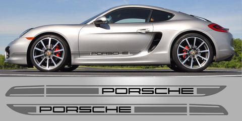 Porsche 981 Boxster Cayman R Two tone stripes
