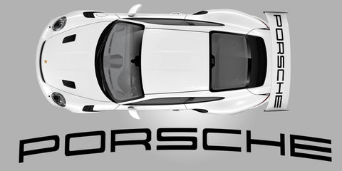 Porsch 991 GT3 RS Weissach Rear Wing Decal