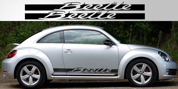 Volkswagen Beetle Script Side Decals Stripe Garage
