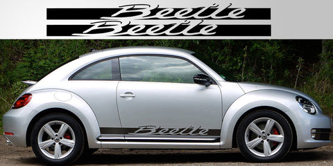 VW Beetle Porsche Style Side Script Vinyl Decal Sticker
