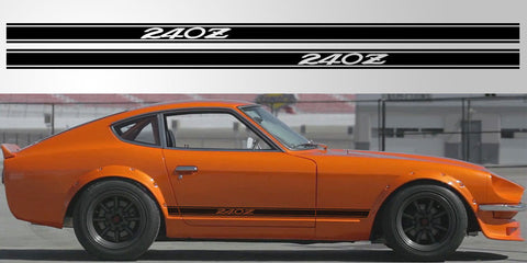 Datsun Nissan 240Z vinyl side stripe rocker decal graphic