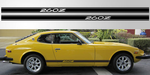 Datsun Nissan 260Z vinyl side stripe rocker decal graphic