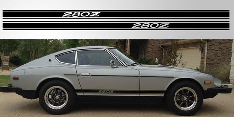 Datsun Nissan 280Z vinyl side stripe rocker decal graphic