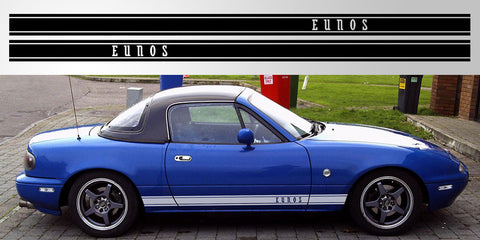 Mazda Miata Mx 5 Eunos Roadster Triple Stripe Decal