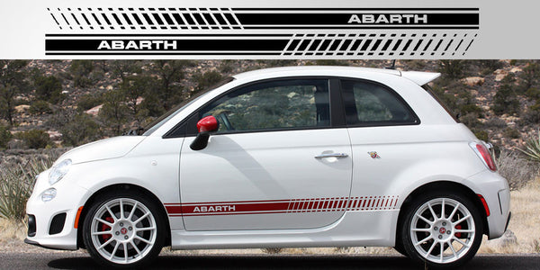 fiat 500 abarth side stripe decals stripe garage. Black Bedroom Furniture Sets. Home Design Ideas